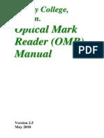Omr Manual