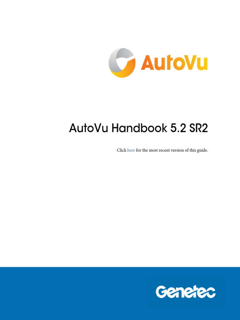 En.autoVu Handbook 5.2 SR2 | Trademark | Web Application