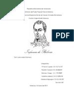 Infancia de Bolivar