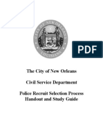 Study Guide for NOPD