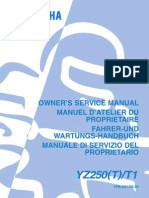 Yamaha YZ 250 Service Manual