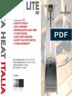 2014 - Lava Heat Italia -  Lava Lite KD Sell Sheet