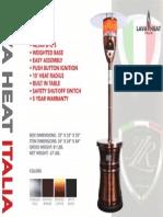 2014 - Lava Heat Italia - Alto Sell Sheet