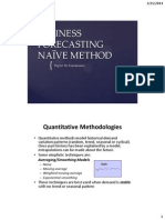 Business Forecasting_Naive Method