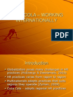 COCA COLA - WORKING INTERNATIONALLY