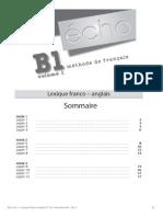 B1 Lexique Francais Anglais