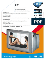 Folleto TV Philips 28pw6521a 55r Pss Esp