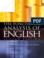 The Functional Analysis of English