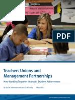 Teachers Unions and Management Partnerships