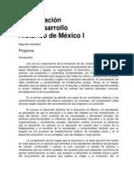 Programa La Educacion en El Desarrollo Historico de Mexico I