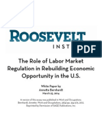 The Role of Labor Market Regulation in Rebuilding Economic Opportunity in the U.S.