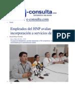 20-03-2014 e-consulta.com -  Empleados del HNP avalan incorporación a servicios de Salud.pdf