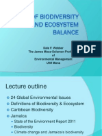 Biodiveristy and Ecosystem Loss in Jamaica's Environment