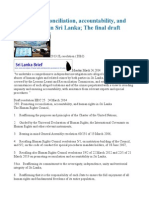 Promoting Reconciliation, Accountability, And Human Rights in Sri Lanka the Final Draft