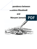 Correspondence Between Maulana Maudoodi and Maryam Jameelah