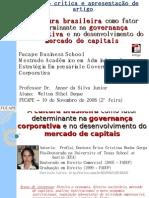GC 17 A cultura brasileira como fator determinante na governança corporativa (Welton)