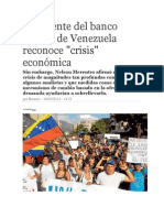 Crisis Economica Venezuela