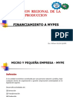 Financiamiento a Mypes