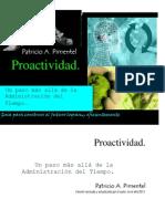 Proactividad Un Paso Mas Alla de La Administracion Del Tiempo