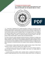 El Juramento de Iniciación Jesuita