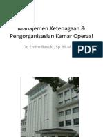 Manajemen Ketenagaan Pengorganisasian Kamar Operasi