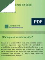 La función de Excel DISTR.BETA