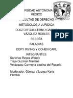Reseña,+Falacias,+Copy+Irving+y+Cohen+Carl