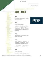 1400 - 1499 - HISTORIA