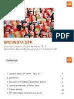 Encuesta GfK Marzo 2014