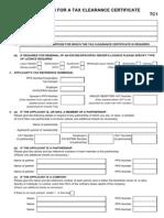 Tax Clearance Cert AppForm