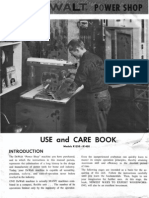 De Walt 1450 - 1250 Radial Arm Saw Use and Care Book