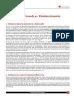 Feminizacion Del Mundo vs Posicion Femenina Gabriela Camaly