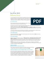 Ley 8 de 2010 Reforma Fiscal TAXES
