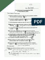 Econometrics - Test 2.1