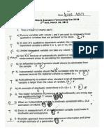 Econometrics - Test 2.2