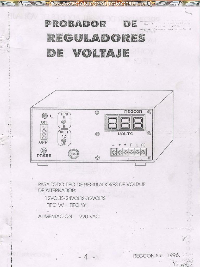 Manual Probador Reguladores Voltaje