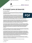 E. Martínez, El complejo camino del desarrollo
