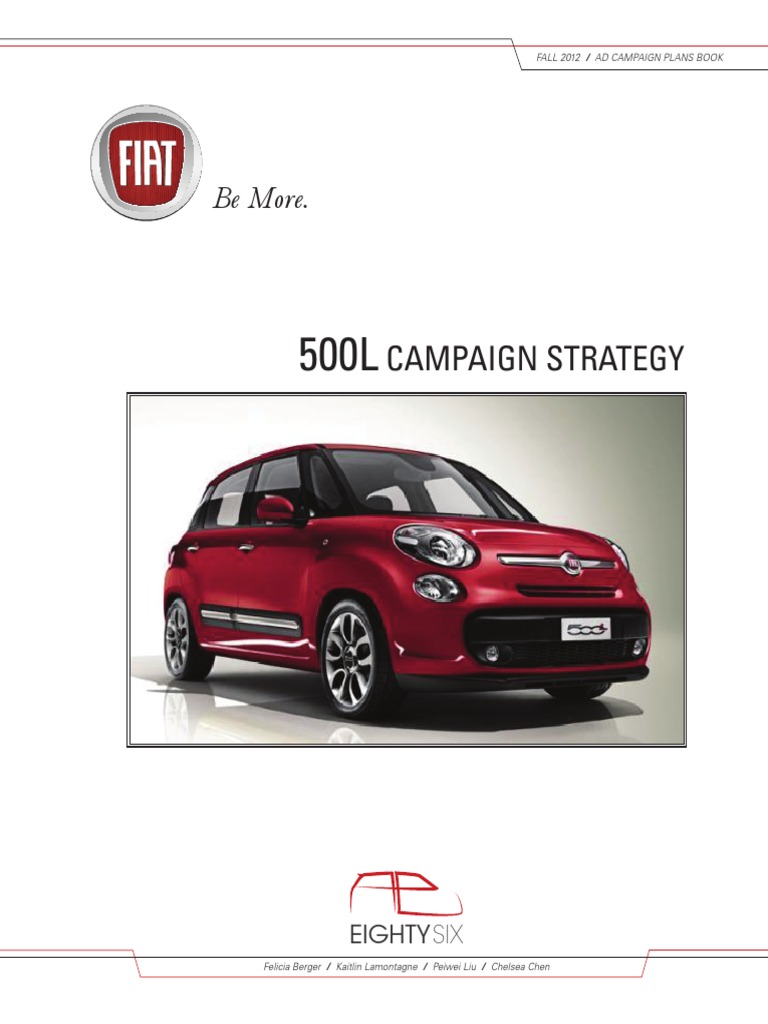 Fiat 500l Campaign Strategy Chrysler Advertising 1954 500 For Sale