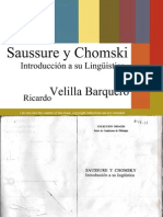 Saussure & Chomsky - Ricardo Velilla Barquero