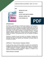 Resumo Livro Libaneo Didatica