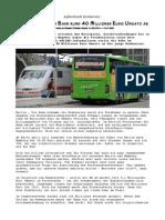 Fernbusse Luchsen Bahn Rund 40 Millionen Euro Umsatz Ab