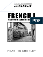 French I Reading Booklet