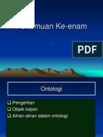 PERTEMUAN 6; ONTOLOGI