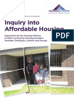 Housing Alliance - Commonwealth Inquiry Affordable Housing