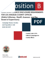 Proposition B Campaign Finance Disclosure Requirements