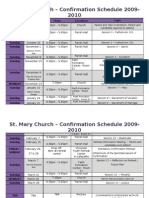 Confirmation 2010 Calendar