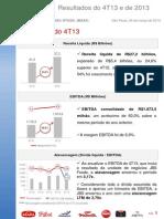 Press-release referente ao 4T13