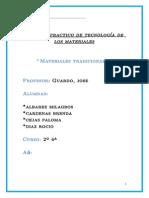 Trabajo practico de tecnología de los materiales