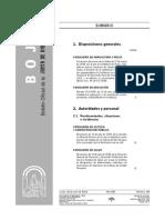 Decreto Bachillerato Andalucía