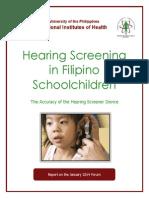 Hearing Screening in Filipino Schoolchildren